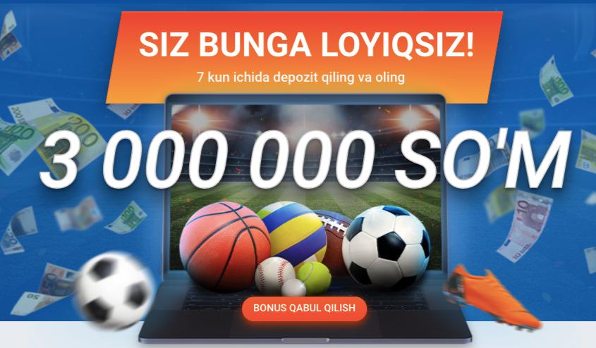 3 000 000 SOM за регистрацию от Mostbet